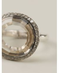 Rosa Maria - Metallic 'julia' Diamond Topaz Ring - Lyst