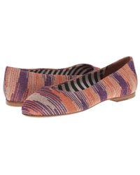 M Missoni - Pink Lurex Spacedye Shoe - Lyst