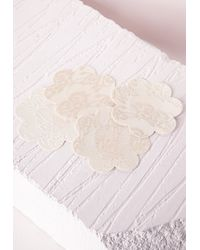 Missguided - Natural Lace Detailed Nipple Covers - Lyst