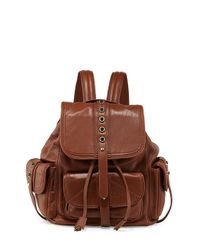 Cynthia Rowley - Brown Sienna Studded Leather Backpack - Lyst