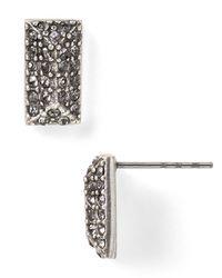 Rebecca Minkoff - Metallic Pave Brick Spike Stud Earrings - Lyst