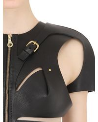 Fleet Ilya - Black Cutout Leather Harness With Straps - Lyst