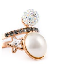Ca&Lou | Metallic Star Motif Ring | Lyst
