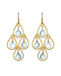 Wendy Mink | Metallic Blue Topaz Earrings | Lyst