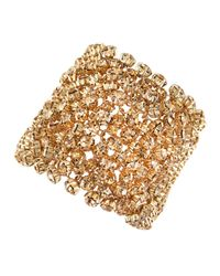 Fragments - Metallic Golden Rhinestone Bracelet With Box - Lyst