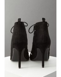 Forever 21 - Black Lace-up Faux Suede Pumps - Lyst