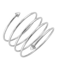 BCBGeneration | Metallic Hot Under The Collar Silvertone Coil Bracelet | Lyst
