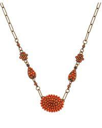 Isabel Marant - Orange Beaded Necklace - Lyst