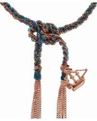 Carolina Bucci | Blue Silk And Rose Gold Liberty Ship Bracelet | Lyst