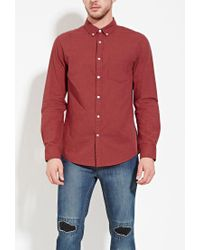 Forever 21 - Purple Classic Cotton Shirt for Men - Lyst