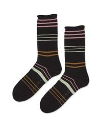 TOPSHOP - Black Falke Stripe Anklet Socks - Lyst