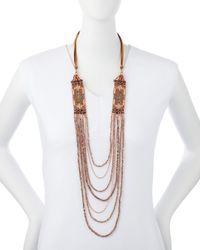 Nakamol   Metallic Layered Side-station Bead Necklace   Lyst