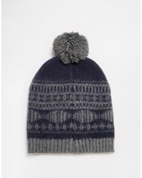 Jack & Jones | Blue Bobble Beanie for Men | Lyst