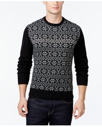 Weatherproof | Black Vintage Snowflake Sweater for Men | Lyst