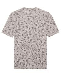 Onassis Clothing | Gray All Over Print Tee for Men | Lyst