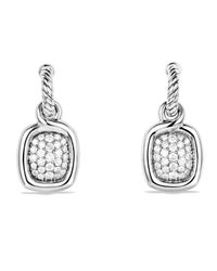 David Yurman   Metallic Labyrinth Drop Earrings With Diamonds   Lyst