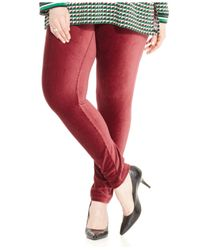 Michael Kors | Red Michael Plus Size Pull-on Corduroy Leggings | Lyst
