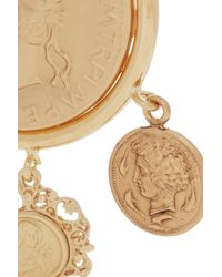 Dolce & Gabbana - Metallic Goldtone Coin Clip Earrings - Lyst