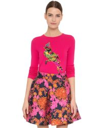 Zac Posen | Red Parrot Sweater | Lyst