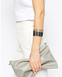 SELECTED | Metallic Sese Bar & Wire Cuff Bracelet | Lyst