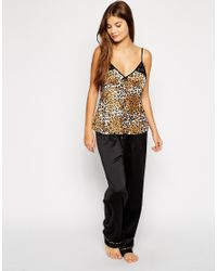 Lipsy - Multicolor Leopard Long Pj Set - Lyst