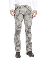 Rock Revival | Gray 'jack Alternative' Straight Leg Tie Dye Jeans for Men | Lyst