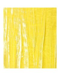 Nina Ricci - Yellow Velvet Skirt - Lyst
