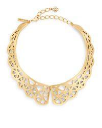 Oscar de la Renta | Metallic Scalloped Web Collar Necklace/goldtone | Lyst