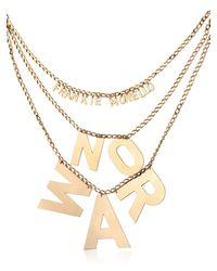 Frankie Morello - Metallic No War Necklace - Lyst
