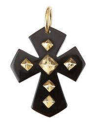 Ashley Pittman | Black Pembeni Dark Horn Cross Pendant | Lyst