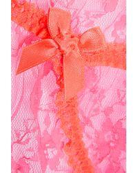 L'Agent by Agent Provocateur - Pink Monica Low-rise Lace Briefs - Lyst
