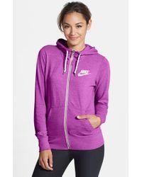 40d3dca66b01 Lyst - Nike  Gym Vintage  Zip Front Hoodie in Purple