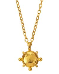 Gurhan | Metallic 24k Solar Pendant Necklace | Lyst