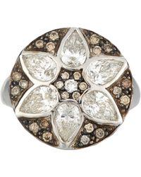 Ileana Makri - Metallic Deco Flower Ring - Lyst