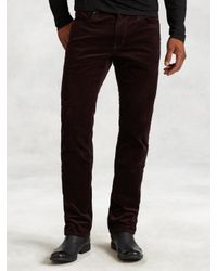 John Varvatos | Brown Cotton Cord Bowery Jean for Men | Lyst