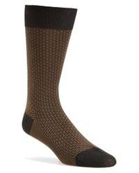 Pantherella - Gray 'jerome' Jacquard Wool Blend Socks for Men - Lyst