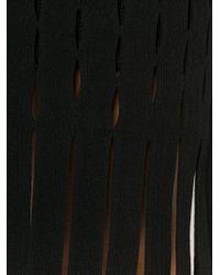 Alexander Wang - Black Slit Detailed Dress - Lyst
