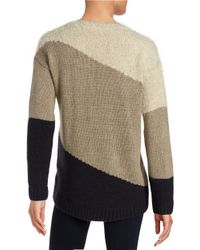DKNY | Natural Eyelash Paneled Pullover | Lyst