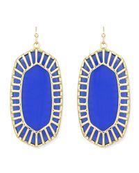 Kendra Scott - Blue Delilah Large Drop Earrings - Lyst