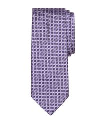 Brooks Brothers - Purple Flower In Square Tie for Men - Lyst
