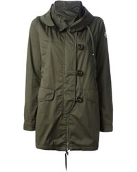 Moncler | Green Parka Short Coat | Lyst