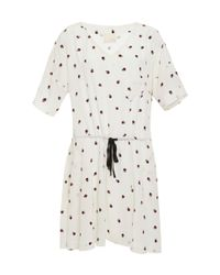 Band of Outsiders - White Ladybug Drawstring Dress - Lyst