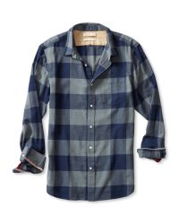 Banana Republic - Blue Heritage Check Flannel Shirt for Men - Lyst