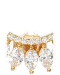 Fallon - Metallic Curved Marquis Bar Earrings - Lyst