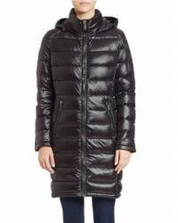 Calvin Klein | Black Packable Puffer Coat | Lyst