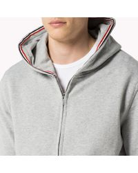 Tommy Hilfiger | Gray Cotton Hoody for Men | Lyst