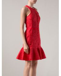 Lanvin - Lace Flared Dress - Lyst