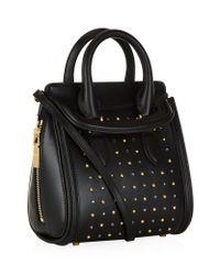 Alexander McQueen - Black Studded Mini Heroine Bag - Lyst