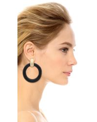 Kenneth Jay Lane | Circle Clip On Earrings - Black | Lyst