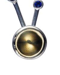 Pamela Love | Metallic Silver Sapphire Satellite Earrings | Lyst